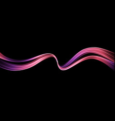 Abstract shiny color wave design element vector