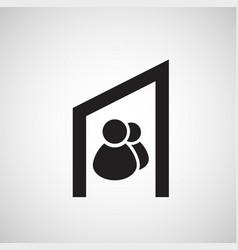 accomodation icon vector image