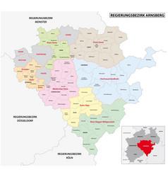 Administrative map arnsberg region vector