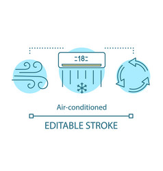 Air-conditioned concept icon vector