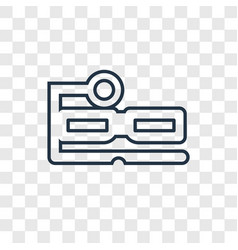 ar glasses concept linear icon isolated on vector image