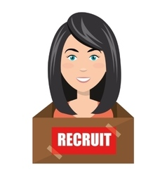 avatar woman recruit vector image