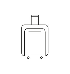 bag of travel icon vector image