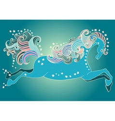 Beautiful jumping horse vector