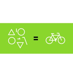 Bicycle as a result of geometric shapes vector image