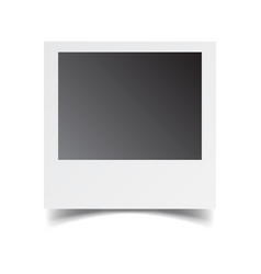 Blank retro photo frame on white isolated vector