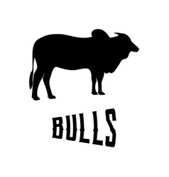 Bulls silhouette male cow vector