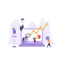 Business data analysis concept marketing people vector