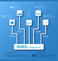 business infographic flowchart concept vector image