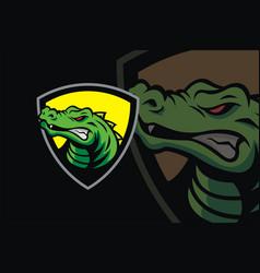 Crocodile mascot logo vector