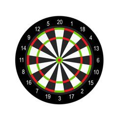 Dart board layout design - darts game vector