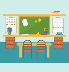empty classroom or study room interior background vector image