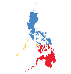 flag map philippines vector image