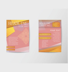 Flyer thai design template Brochure in A4 size vector