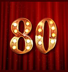 Golden number - 80 vector