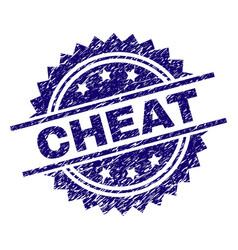 Grunge textured cheat stamp seal vector