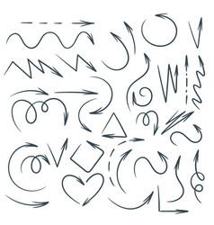 hand drawn doodle arrows vector image