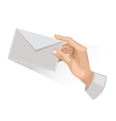 Hand with letter vector