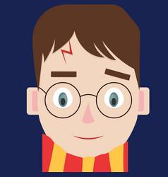 Harry potter on white background vector