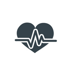 heart pulse concept logotype template design vector image