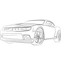 Hot sport car vector