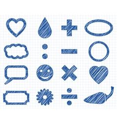 Icon pen style vector image