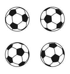 Icon set of ball for european football soccer vector