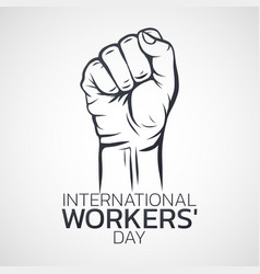 International workers day logo icon design vector