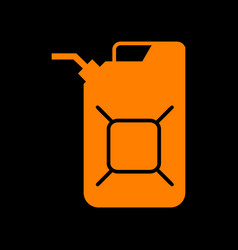 Jerrycan oil sign jerry can oil sign orange icon vector