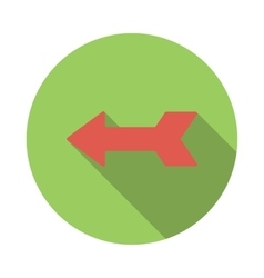 Left red arrow icon flat style vector image