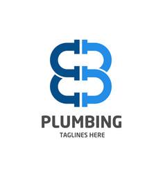 Letter b eb plumbing company logo vector