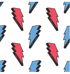 lightning seamless pattern hand drawn sketched vector image