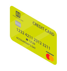 lime credit card icon isometric style vector image