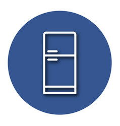 Line icon of refrigerator with shadow eps 10 vector