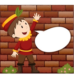 Little boy with speech bubble vector