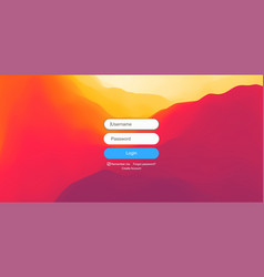 login user interface modern screen design vector image