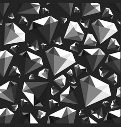 low poly gem diamond seamless pattern vector image