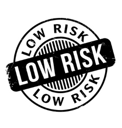 Low Risk rubber stamp vector