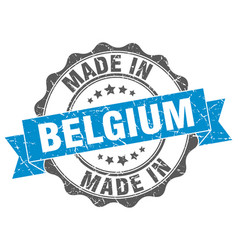 Made in belgium round seal vector