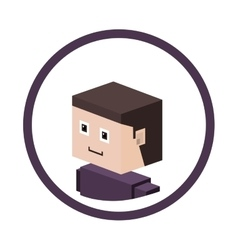 Man isometric avatar vector image