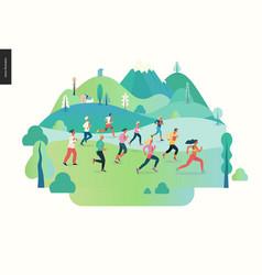 Marathon race group vector