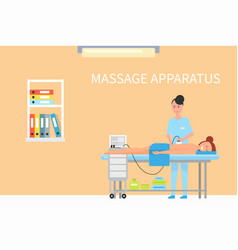 Massage treatment using apparatus machine vector