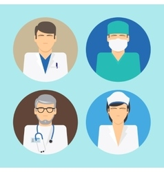 Medical avatars set vector