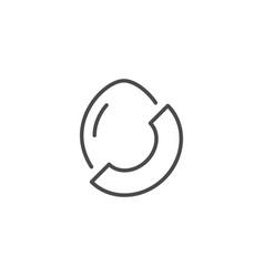 melon line outline icon fruit concept vector image