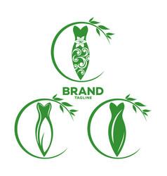 Modern dress and fashion logo vector