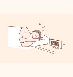 Morning sleep health care dream relaxation vector