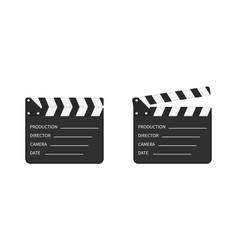 Movie clapper board slate clapperboard vector