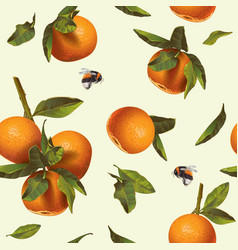 Orange mandarin pattern vector