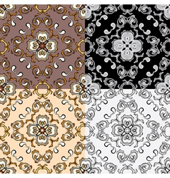 ornament set 06 380 vector image