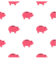 Piggy pattern flat vector